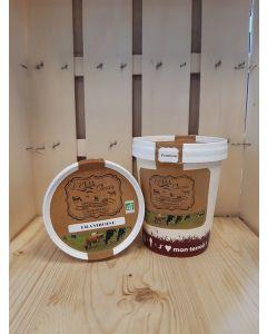 Sorbet au yaourt Framboise Fermière  de Souzy- direct producteur