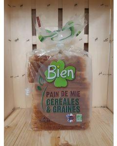 Pain de mie graines et céréales 500g (8,40€/kg)
