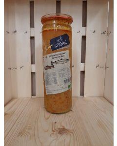 Soupe de poissons biologique, saumon et truite 530ml (12,83€/L)