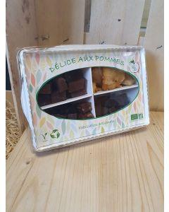 Délice aux pommes Rhodanienne 4 parfum 140g Pâte de fruit (38,57€/kg)