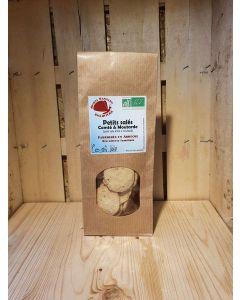 Biscuits salés comté et moutarde fab artisanale Ardèche 100g