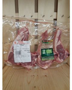 Cotelette d'agneau x2 env 220g (25,45€/kg)