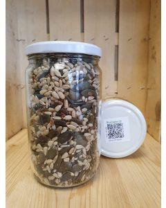 Mélange de Graine (tournesol, lin brun, courge) 460g -consigné (11,52€/kg)