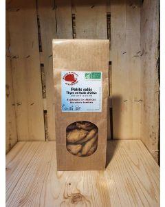 Biscuits salés thym et huile d'olive 130g fab Ardèche